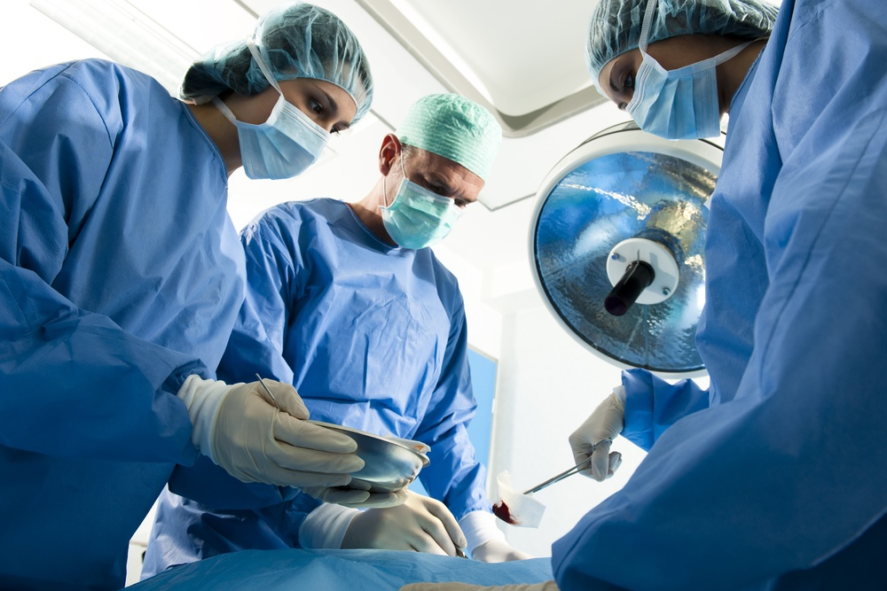 Portrait of team of surgeons at work
